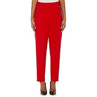 Lisa Perry Women's Pleat Front Pants Red