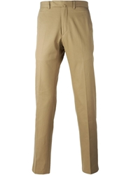 Valentino Slim Fit Chino Trousers Nude And Neutrals