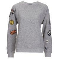 Obey Clothing Women's Moonrise Crewneck Sweatshirt Heather Grey
