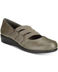 Easy Street Shoes Birdie Flats Women's Grey