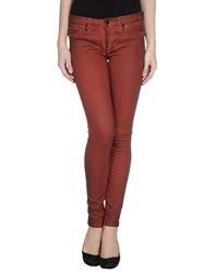 Genetic Denim Trousers Casual Trousers Women Maroon
