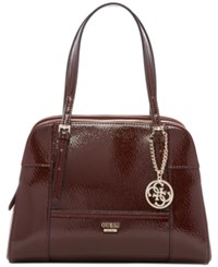 Guess Huntley Cali Medium Satchel Bordeaux