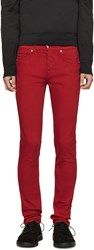 Mcq By Alexander Mcqueen Red Skinny Jeans