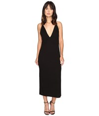 Lanston Slit Cami Midi Dress Black Women's Dress