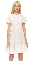 Giambattista Valli Short Sleeve Dress White