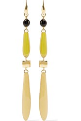 Isabel Marant Gold Tone Resin And Horn Earrings