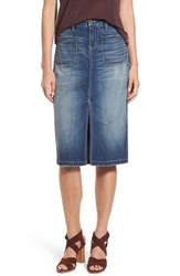 Hinge Women's Denim Pencil Skirt
