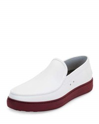 Salvatore Ferragamo Fury 2 Rubber Boat Shoe White