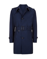 Aquascutum London Pattison Single Breasted Trench Coat Blue
