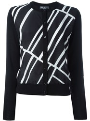 Salvatore Ferragamo Diagonal Stripe Cardigan