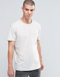 Selected Homme Arrow Print Pocket T Shirt Snow White