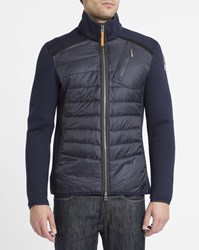 Parajumpers Navy Jayden Mix Neoprene Down Jacket Blue