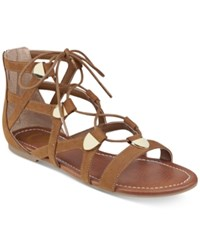 G By Guess Lewy Gladiator Sandals Women's Shoes Cognac