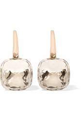 Pomellato Nudo Classic 18 Karat Rose And White Gold Topaz Earrings Rose Gold