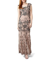 Phase Eight Barbara Tapework Gown Damask