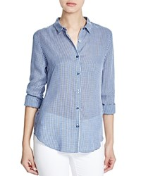 Dl1961 West 4Th And Jane Slim Gingham Shirt Blue White Gingham