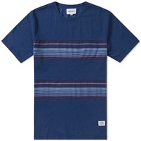 Norse Projects James Contrast Stripe Tee Blue