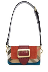 Burberry Shoes And Accessories Buckled Leather Shoulder Bag Multicolor