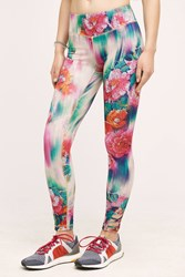 Pure Good Floral Ikat Leggings Blue Motif