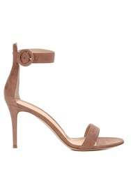 Gianvito Rossi Portofino Suede Sandals Light Pink