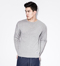 Silas Ash Cotton Crew Knit Sweater
