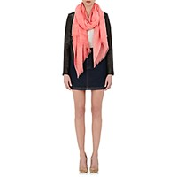 Barneys New York Women's Fringed Cashmere Scarf Peach
