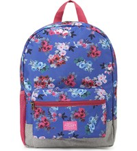 Joules Floral Pattern Backpack Light Pink Spot
