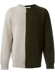 Marni Two Tone Jumper Brown