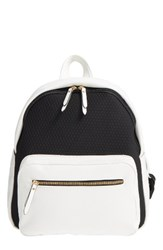 Poverty Flats By Rian Faux Leather And Neoprene Backpack