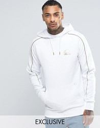 Ellesse Hoodie With Gold Piping White