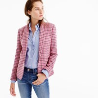J.Crew Campbell Blazer In Pink Houndstooth