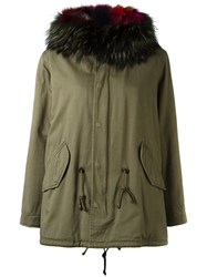 Forte Couture Classic Parka Coat Green