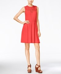 Maison Jules Cinched Waist Sleeveless Dress Only At Macy's Diva Pink
