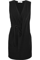 Iro Anja Rubik Stellie Draped Woven Mini Dress Black