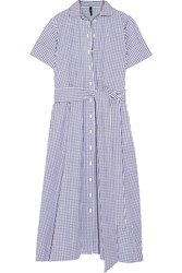 Lisa Marie Fernandez Gingham Cotton Shirt Dress Blue