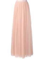 Needle And Thread High Rise Draped Long Skirt Pink And Purple