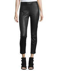 Rag And Bone Josephine Leather Combo Leggings Black