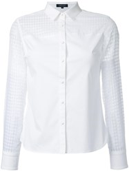 Loveless Checked Sheer Detailing Shirt White