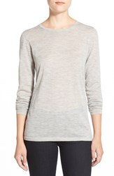Women's Nordstrom Collection Lightweight Cashmere Crewneck Sweater Grey Clay Heather