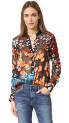 Alice Olivia Belle Oversized Tunic Floral Field Burnout