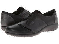 Naot Footwear Harore Onyx Leather Jet Black Leather Black Suede Jet Black Leather Women's Flat Shoes