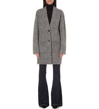 The Kooples Marl Textured Knitted Cardigan Grey