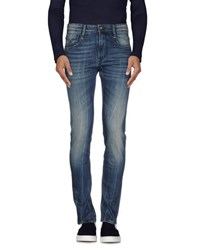 Uniform Denim Denim Trousers Men Blue