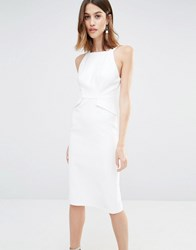 Warehouse Ruffle Detail Cami Dress Cream