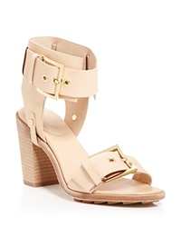 Rachel Zoe Open Toe Sandals Reeve High Heel Natural