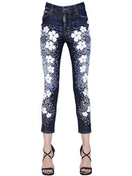 Dsquared Londean Flower Printed Denim Jeans