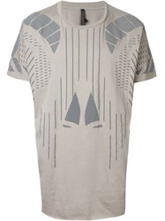 Barbara I Gongini Geometric Print T Shirt Grey