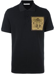 Givenchy Cobra Patch Polo Shirt Black