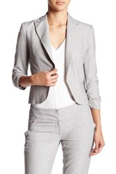 Amanda And Chelsea Ruched Sleeve Blazer Petite Gray