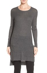 Halogenr Petite Women's Halogen Texture Stitch Knit Tunic Grey